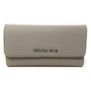 Michael Kors Jet Set Travel Trifold Wallet Cement